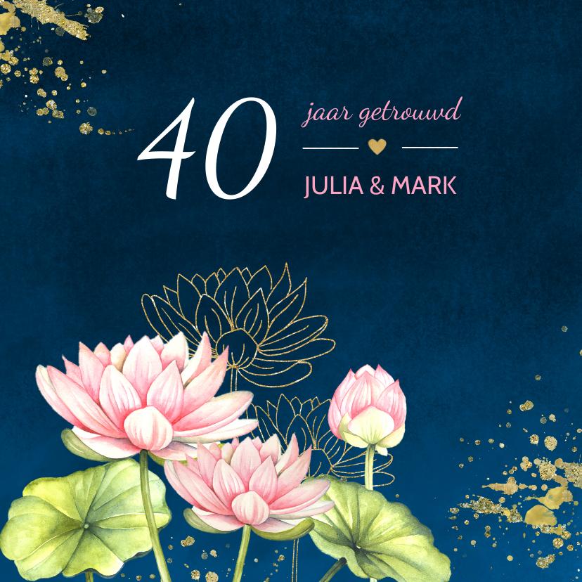 Jubileumkaarten - Jubileum lotusbloemen
