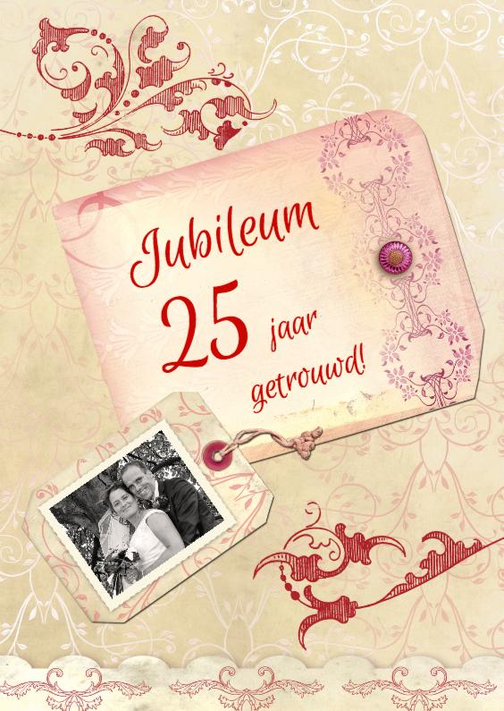 Uitnodigingen - Jubileum Scrapbook 25
