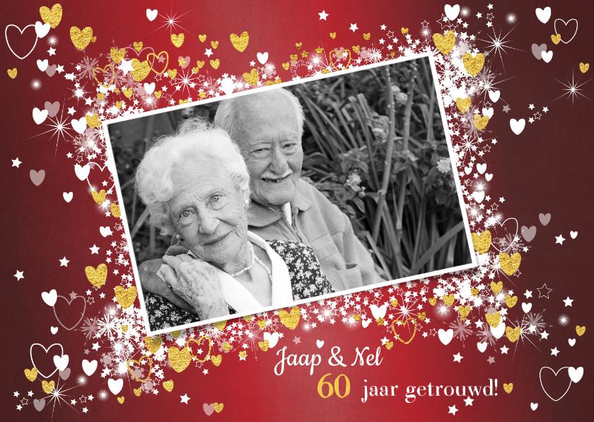 Jubileumkaarten - Jubileum  stijlvolle rode uitnodiging voor jullie trouwdag