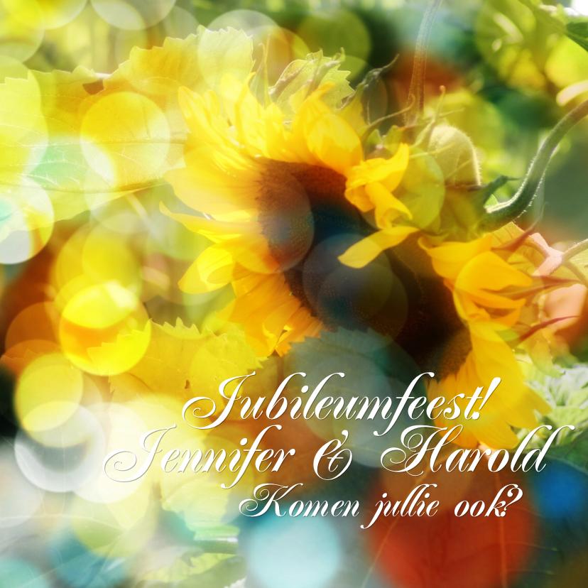 Jubileumkaarten - jubileum Sunflower RB