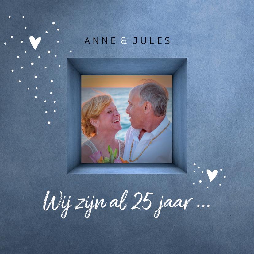 Jubileumkaarten - Jubileum uitnodiging 25 jaar gelukkig met elkaar