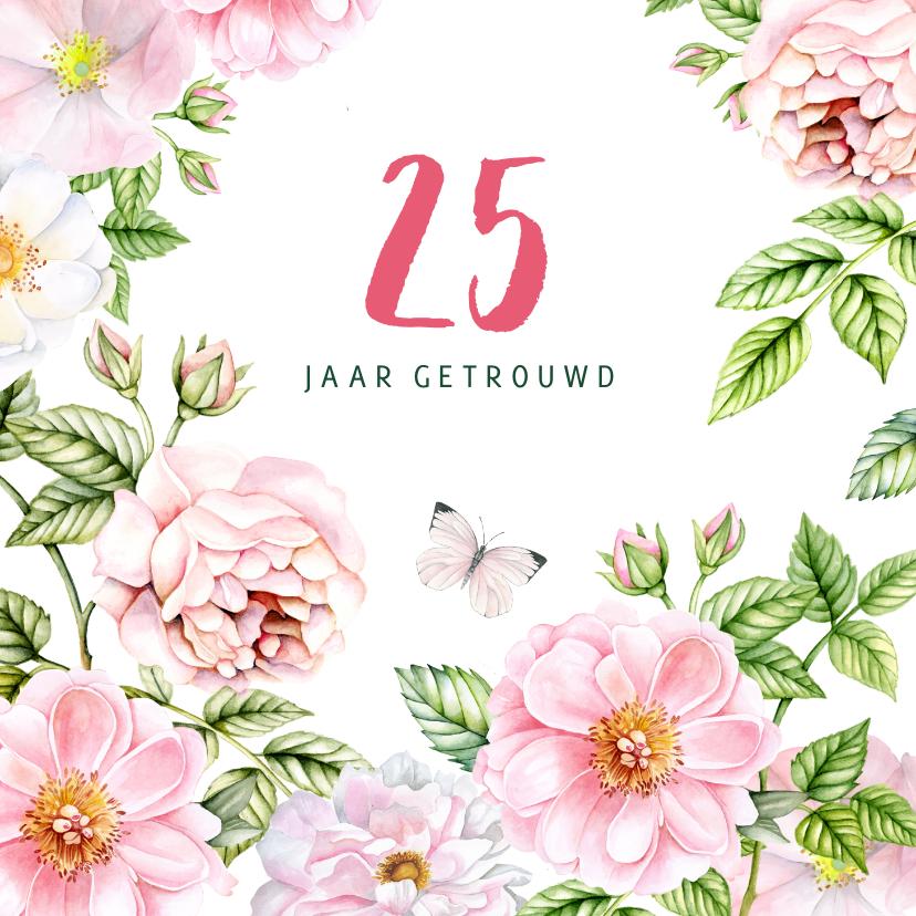 Jubileumkaarten - jubileum uitnodiging rozen