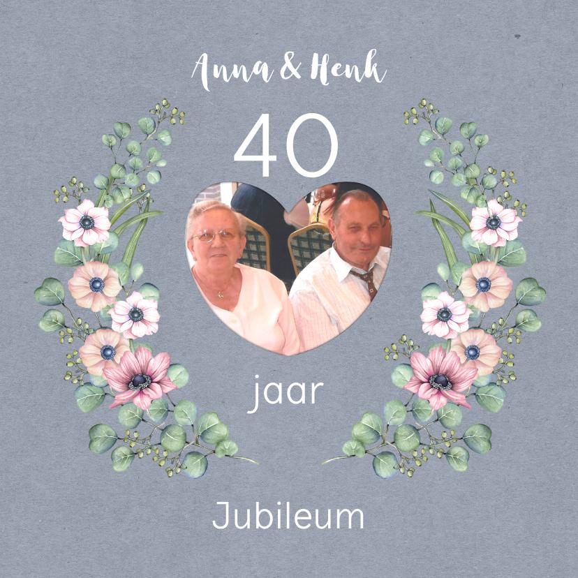 Jubileumkaarten - Jubileum veertig anemoontakken