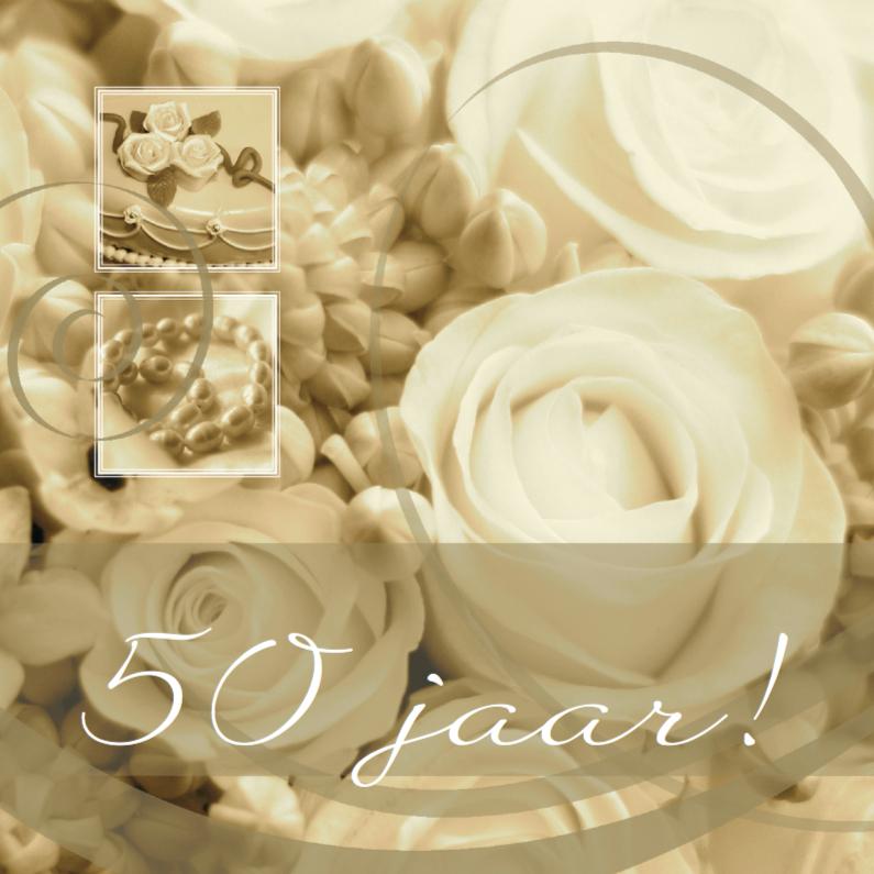 Jubileumkaarten - jubileum vijftig tekst variabel