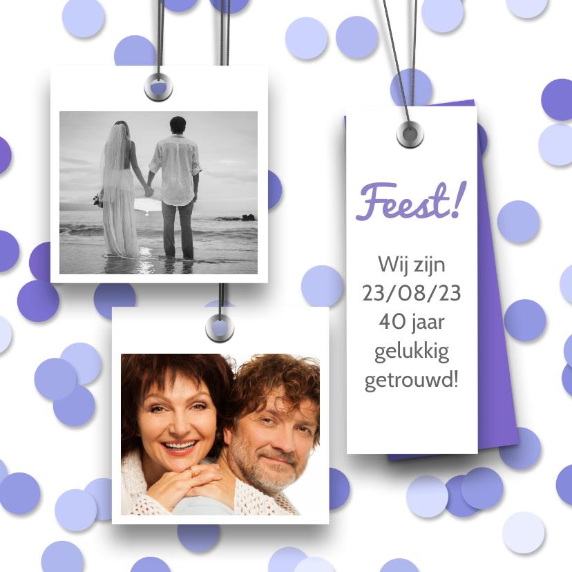 Jubileumkaarten - Jubileumfeest labels en confetti