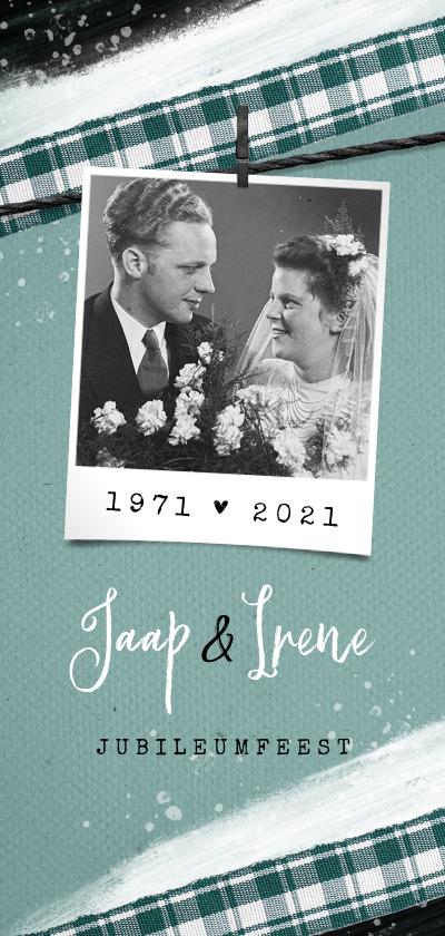 Jubileumkaarten - Jubileumfeest uitnodiging vintage stijlvol foto