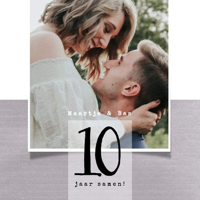 Jubileumkaarten - Jubileumkaart 10 jaar samen, modern met foto
