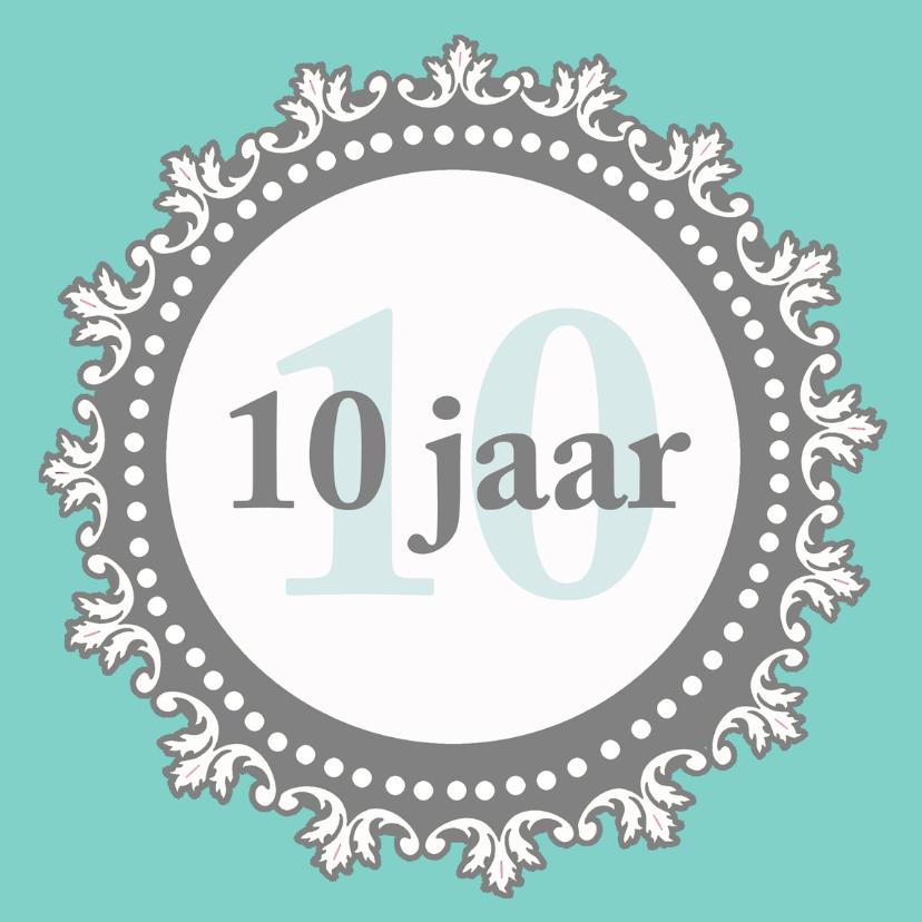 Jubileumkaarten - Jubileumkaart 10 jaar