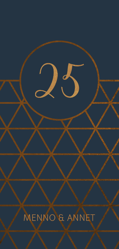 Jubileumkaarten - Jubileumkaart 25 jaar geometrisch patroon
