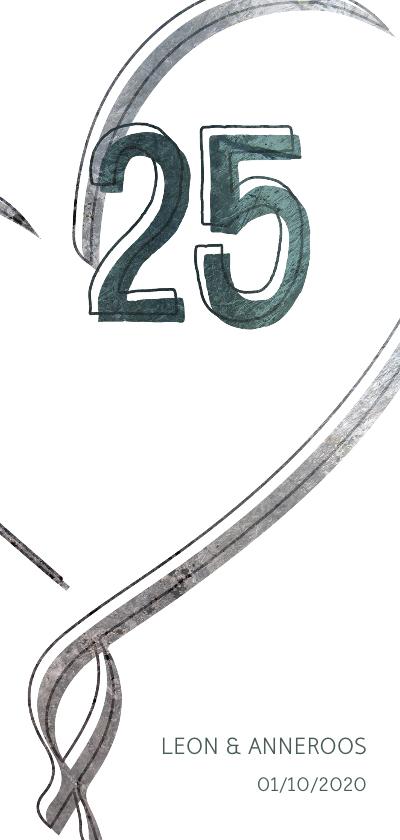 Jubileumkaarten - Jubileumkaart 25 jaar met hart