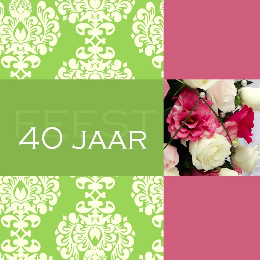 Uitnodigingen - Jubileumkaart 40 jaar barok