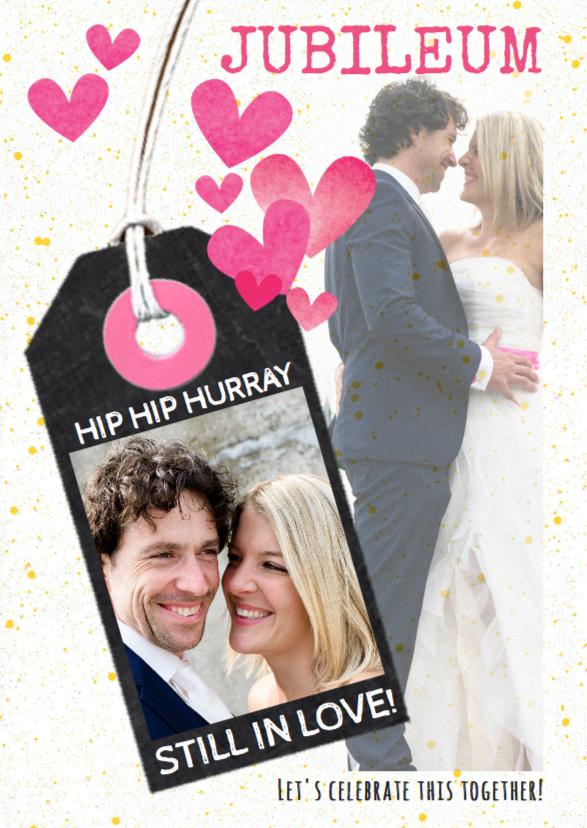 Jubileumkaarten - Jubileumkaart getrouwd label