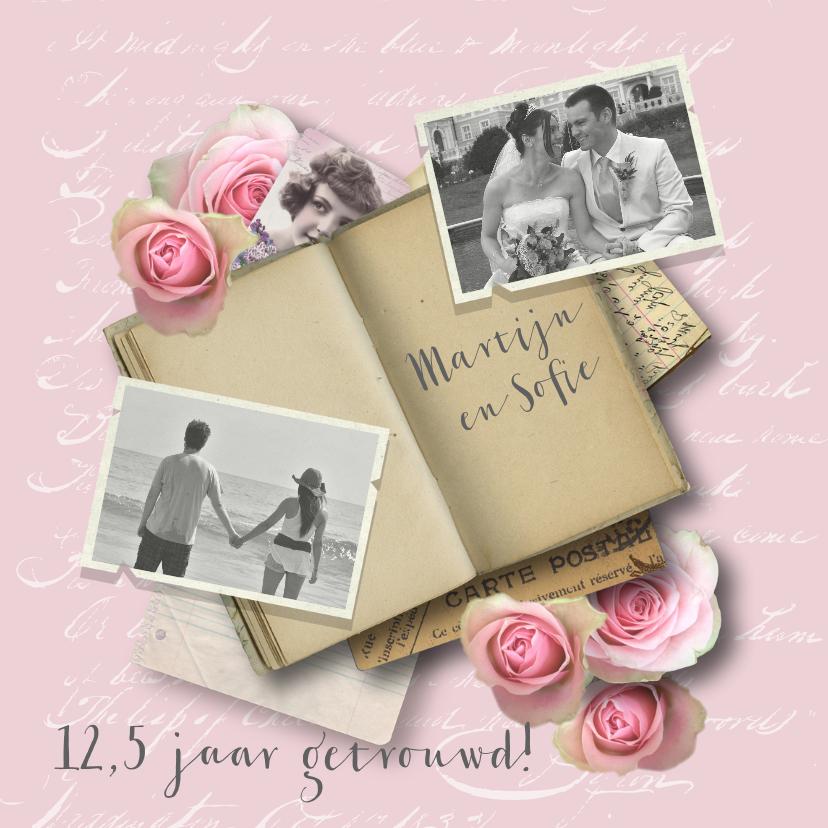 Jubileumkaarten - Jubileumkaart huwelijk romantisch rozen