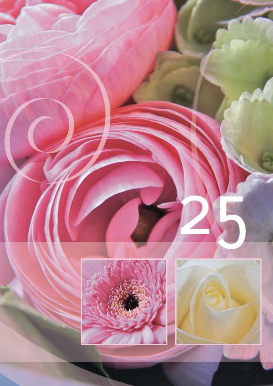 Jubileumkaarten - Jubileumkaart kleur ranonkel