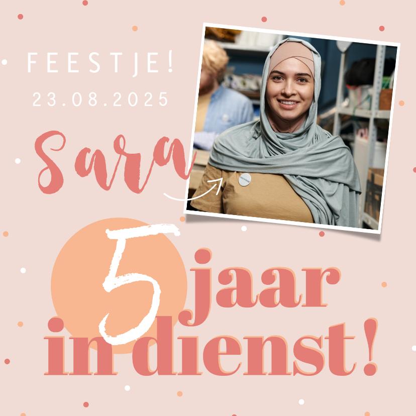 Jubileumkaarten - Jubileumkaart uitnodiging feestje roze