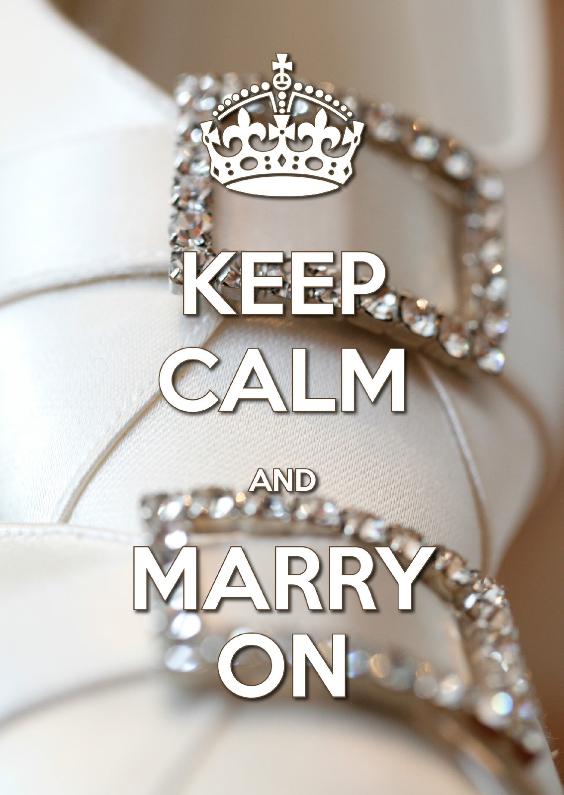 Jubileumkaarten - Keep Calm and Marry On