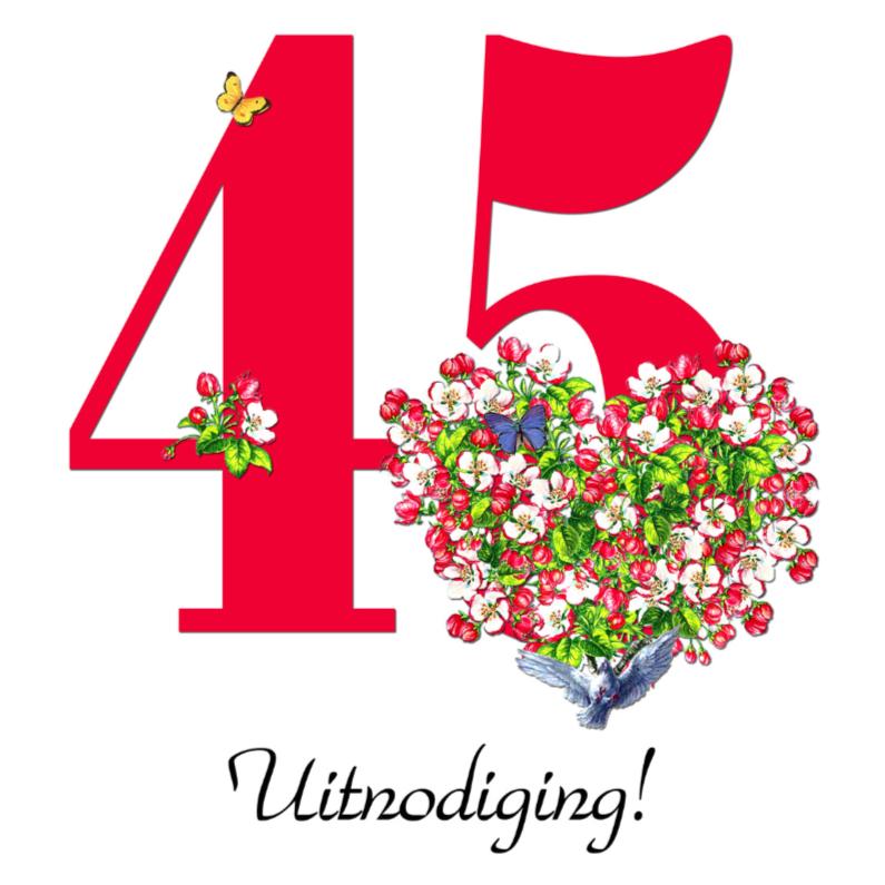 Jubileumkaarten - KendieKaart-45 invite-Blossom