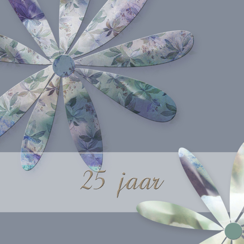 Jubileumkaarten - lila sfeer 25
