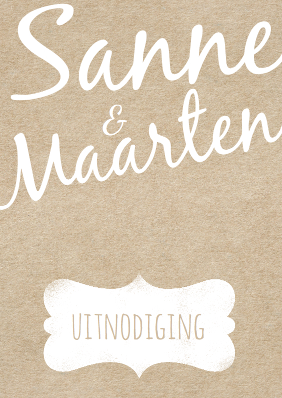 Jubileumkaarten - Moderne 25 jaar huwelijk kraft design