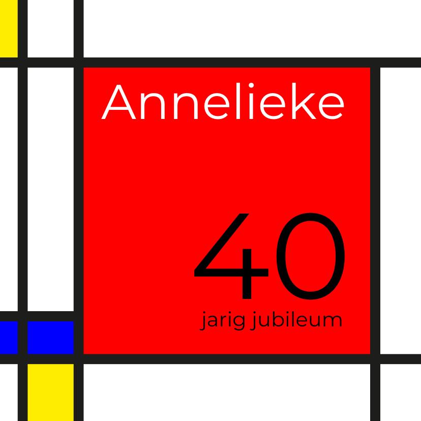Uitnodigingen - Mondriaan 40 jaar
