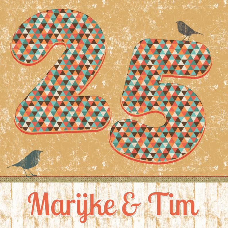 Jubileumkaarten - retro 25 jarig jubileum