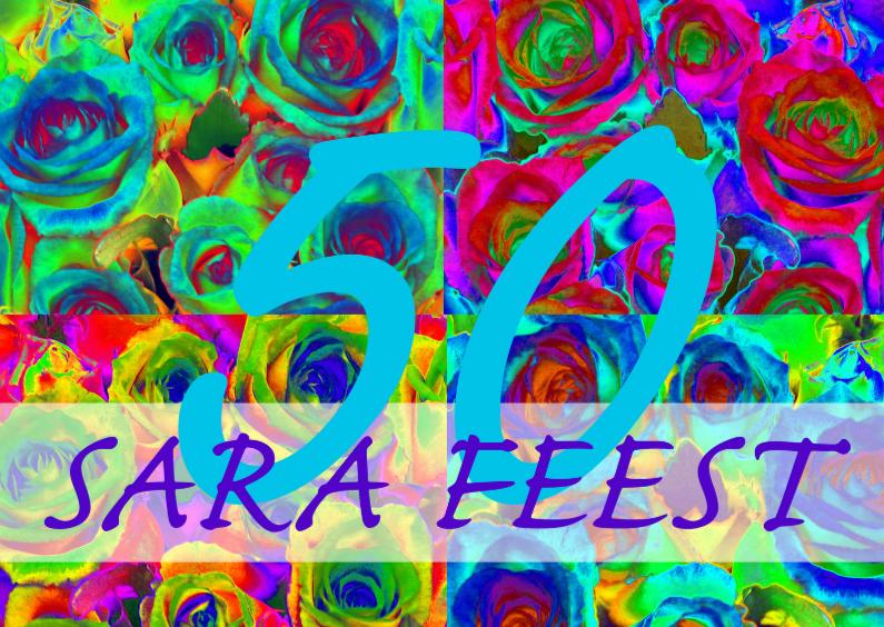Rozen collage Sara uitnodiging 1