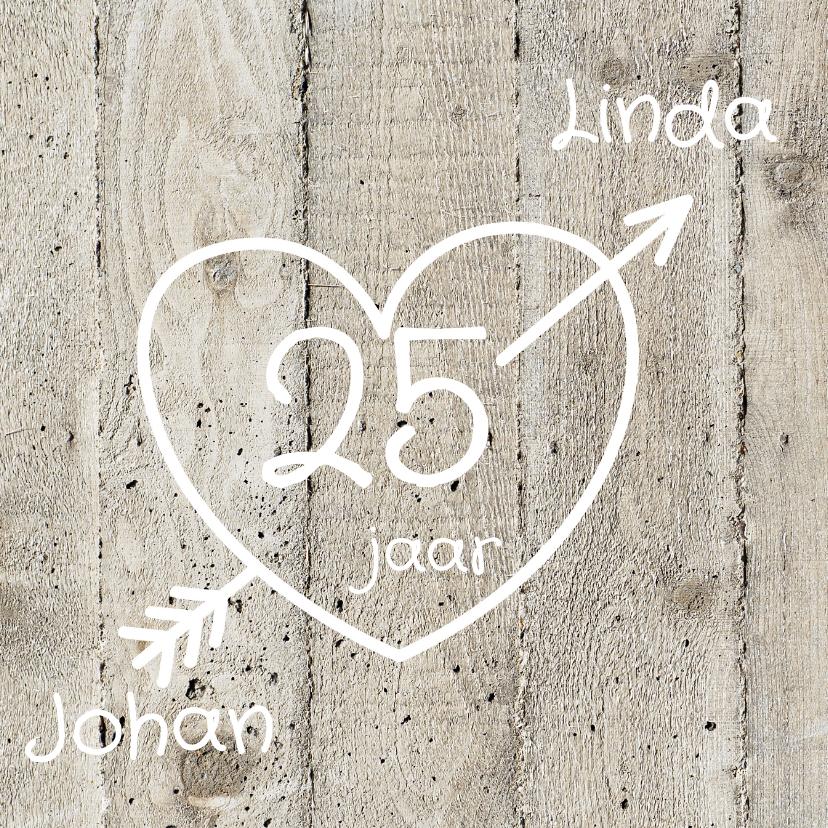 Jubileumkaarten - Uitnodiging 25 jarig huwelijk