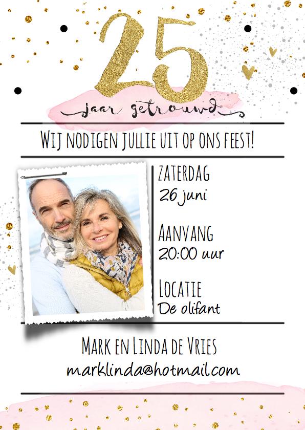 Uitnodigingen - Uitnodiging 25 watercolor - LO