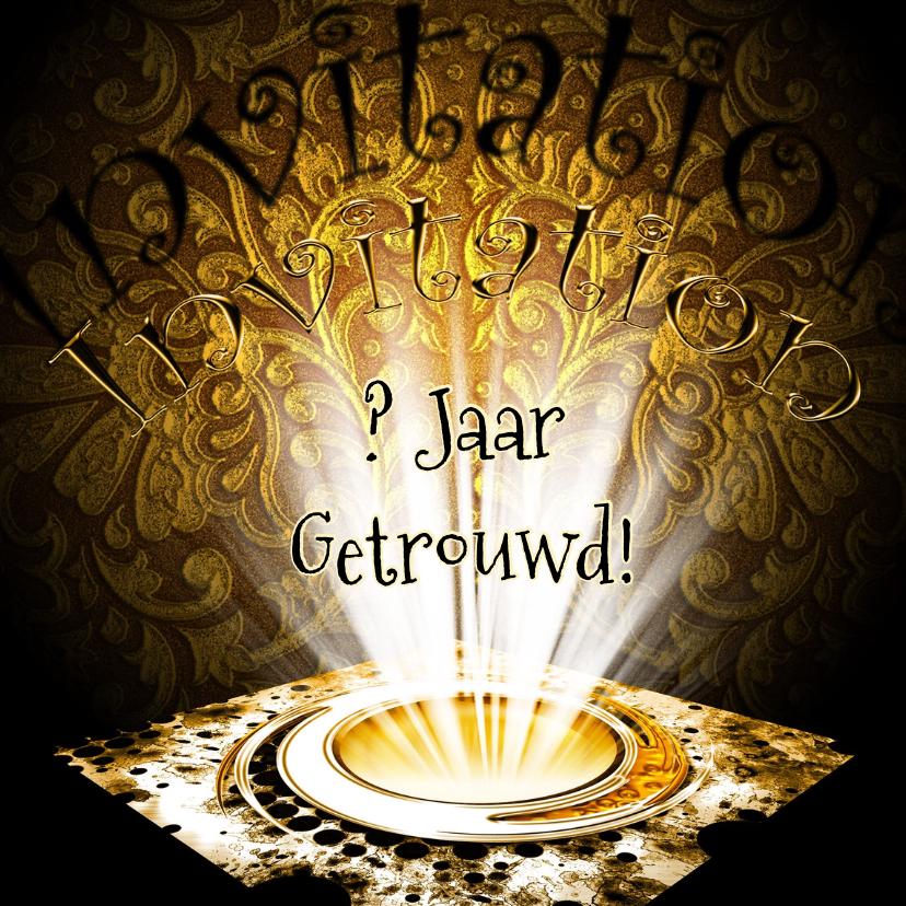 Jubileumkaarten - Uitnodiging feest sfeer licht