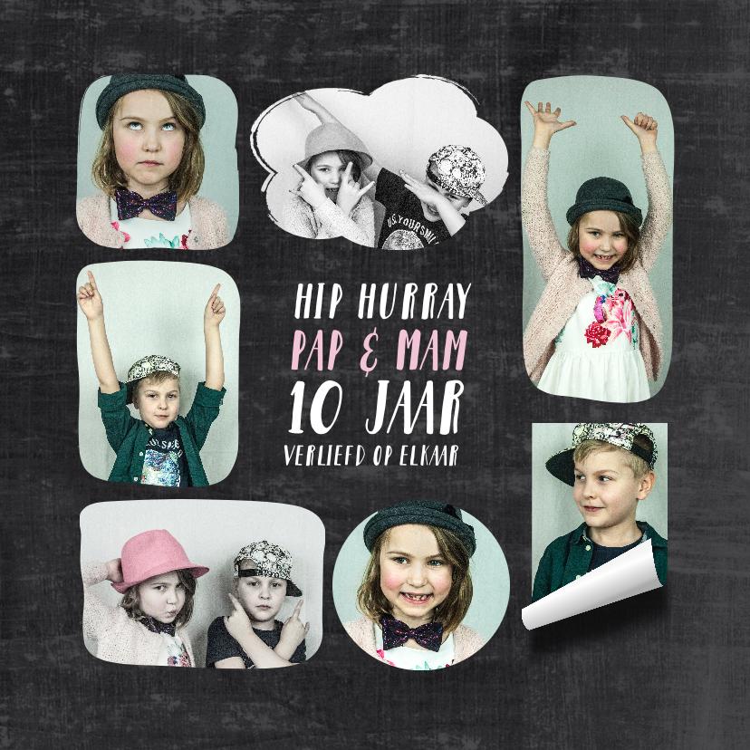 Jubileumkaarten - Uitnodiging fotocollage jubileum kinderen