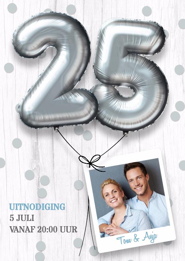 Jubileumkaarten - Uitnodiging huwelijk jubileum 25 jaar
