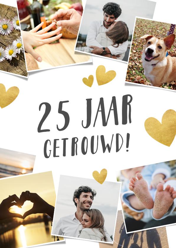 Jubileumkaarten - Uitnodiging huwelijksjubileum 12,5 jaar - fotocollage