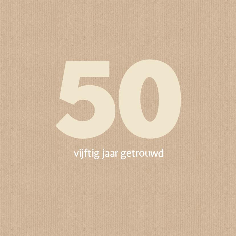 Jubileumkaarten - Uitnodiging jubileum 50 papier
