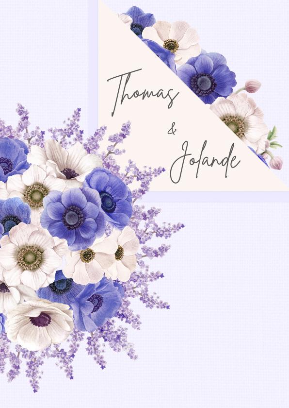 Jubileumkaarten - Uitnodiging jubileum anemonen