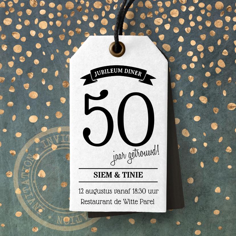 Jubileumkaarten - Uitnodiging Jubileum diner
