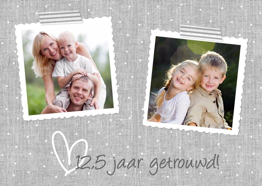 Jubileumkaarten - Uitnodiging Jubileum Hart Grijs 2 Fotos