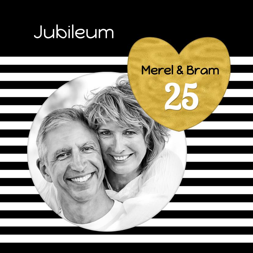 Jubileumkaarten - Uitnodiging jubileum hart  OT