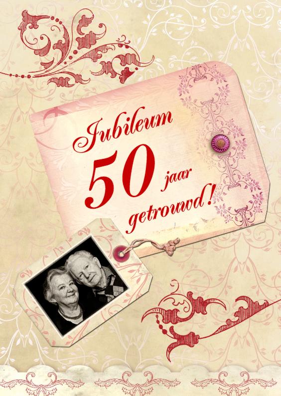 Jubileumkaarten - Uitnodiging Scrapbook Jubileum jaartal aan te passen