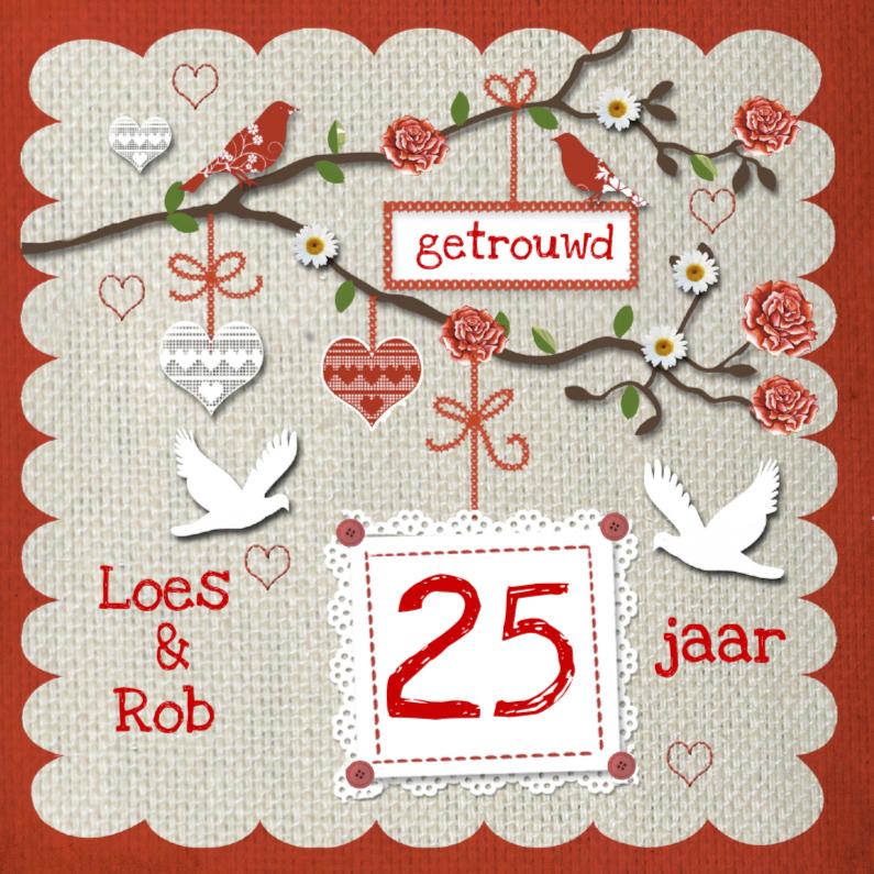 Jubileumkaarten - Uitnodiging voor huwelijksjubileum
