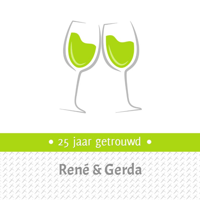 Uitnodigingen - Uitnodiging wijnglazen - SZ