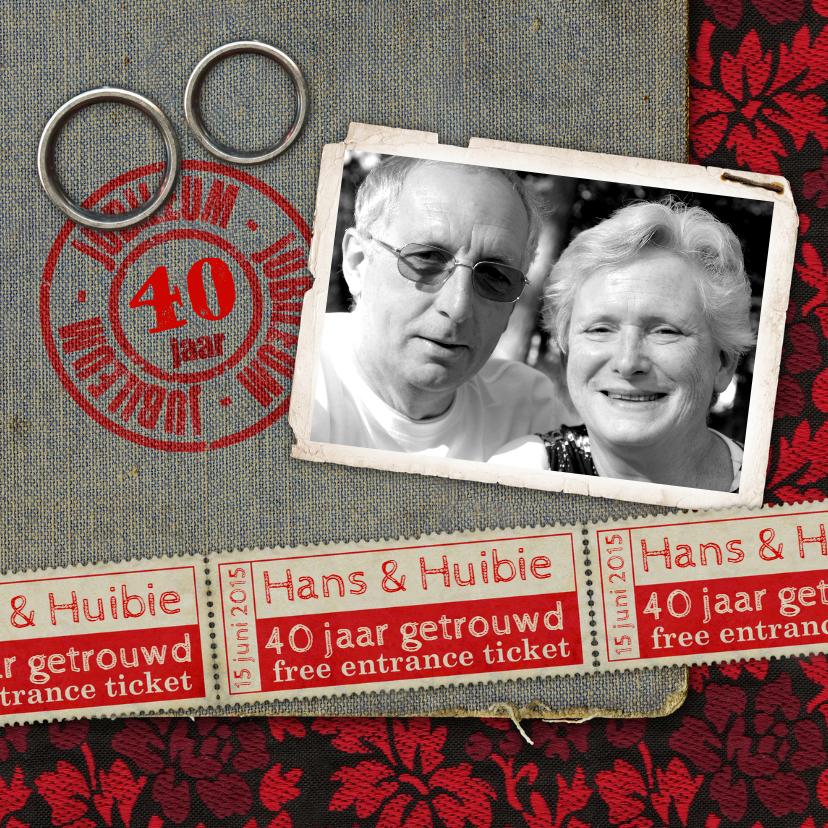 Jubileumkaarten - YVON jubileum trouwen kaart