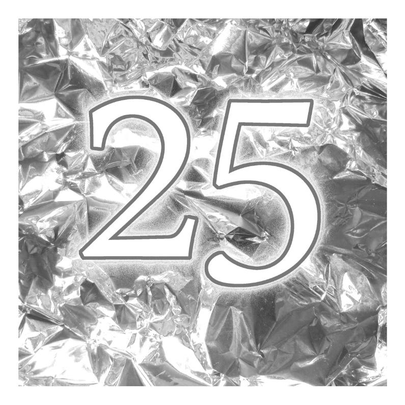 Jubileumkaarten - Zilveren 25 jaar