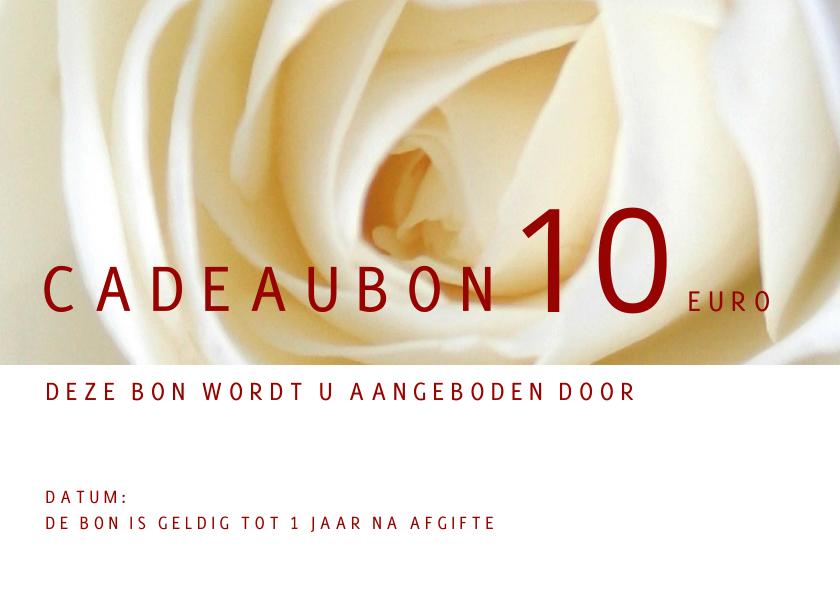 Kaarten mailing - Cadeaubon roos liggend