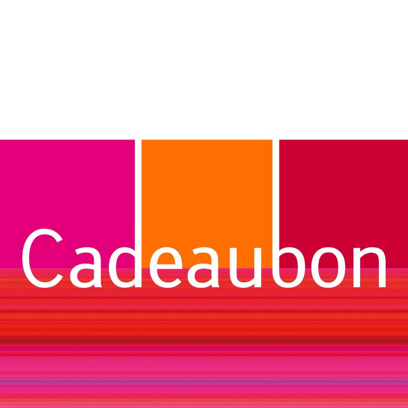 Kaarten mailing - Cadeaubon strepen vierkant