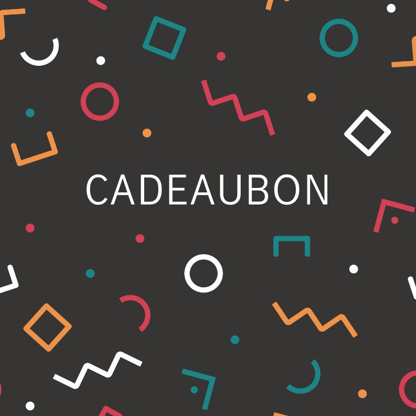 Kaarten mailing - Cadeaubon zakelijk zzp geometrisch patroon