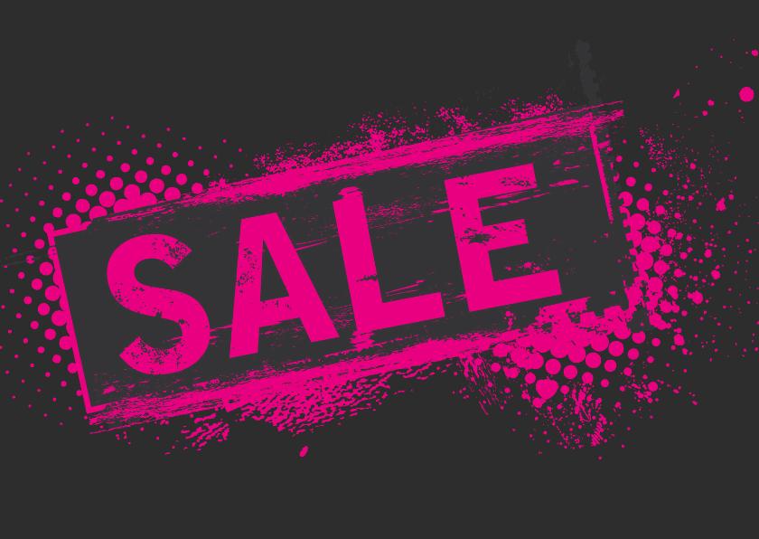 Kaarten mailing - Sale pink