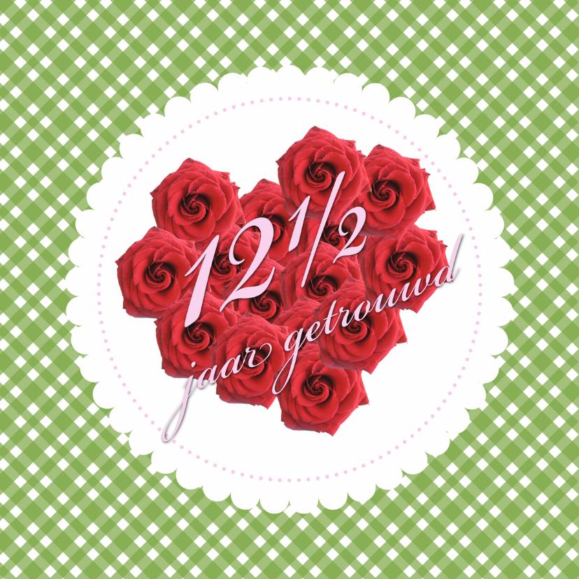 12 en half jaar getrouwd jubileumkaarten kaartje2go