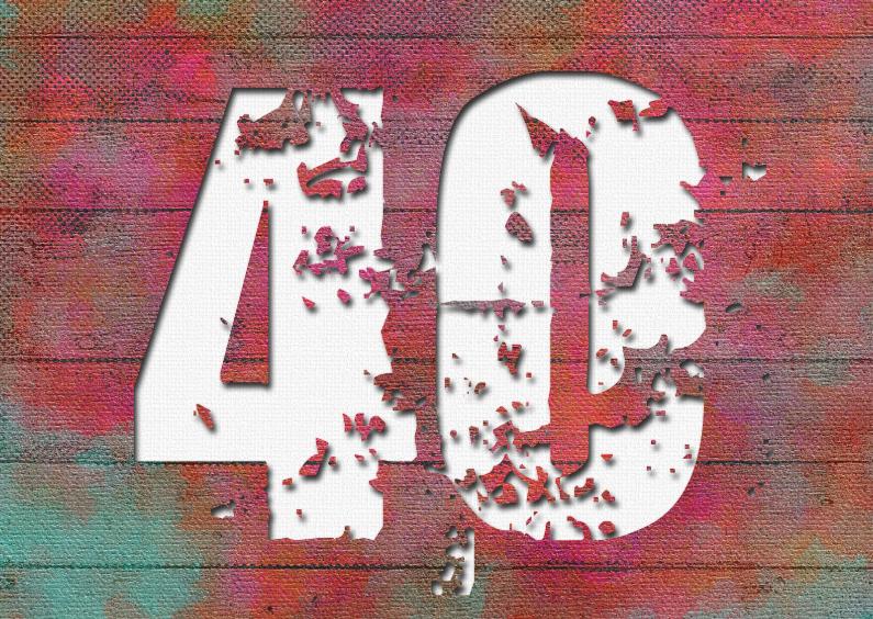 13131 Huwelijksjubileum 40 jaar 1