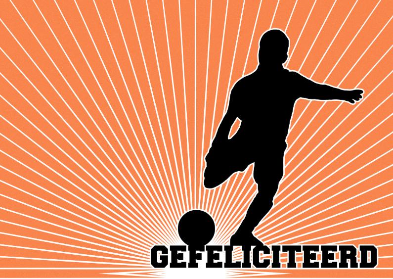 15262 Voetballer gefeliciteerd 1
