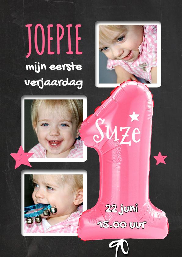 1e Verjaardag ballon roze - SG 1